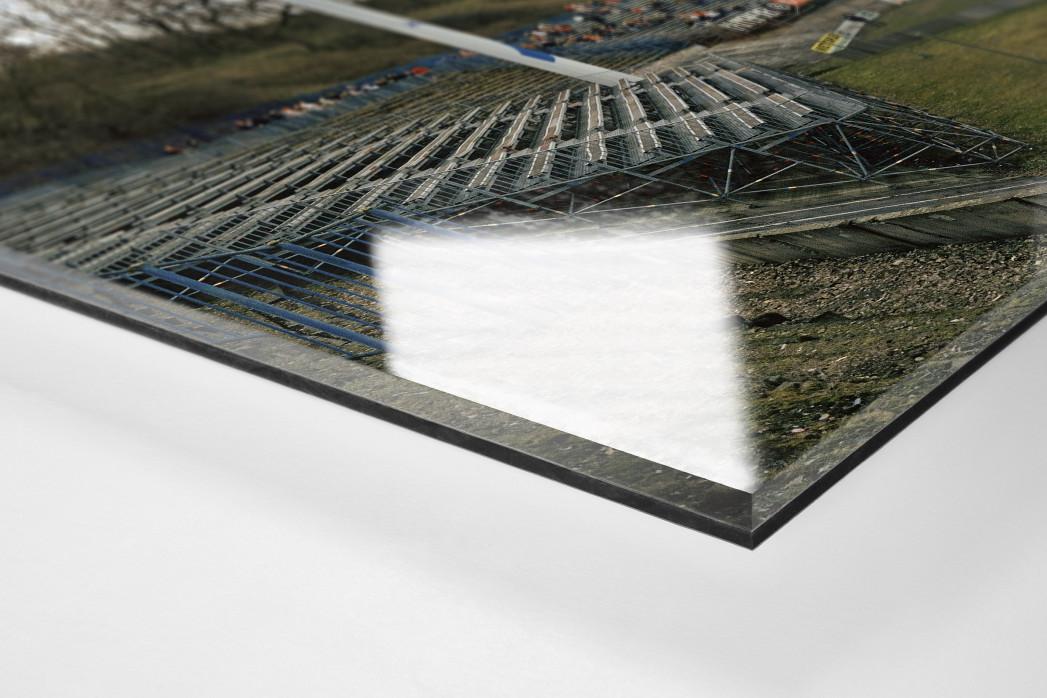 Zwickau als Direktdruck auf Alu-Dibond hinter Acrylglas (Detail)