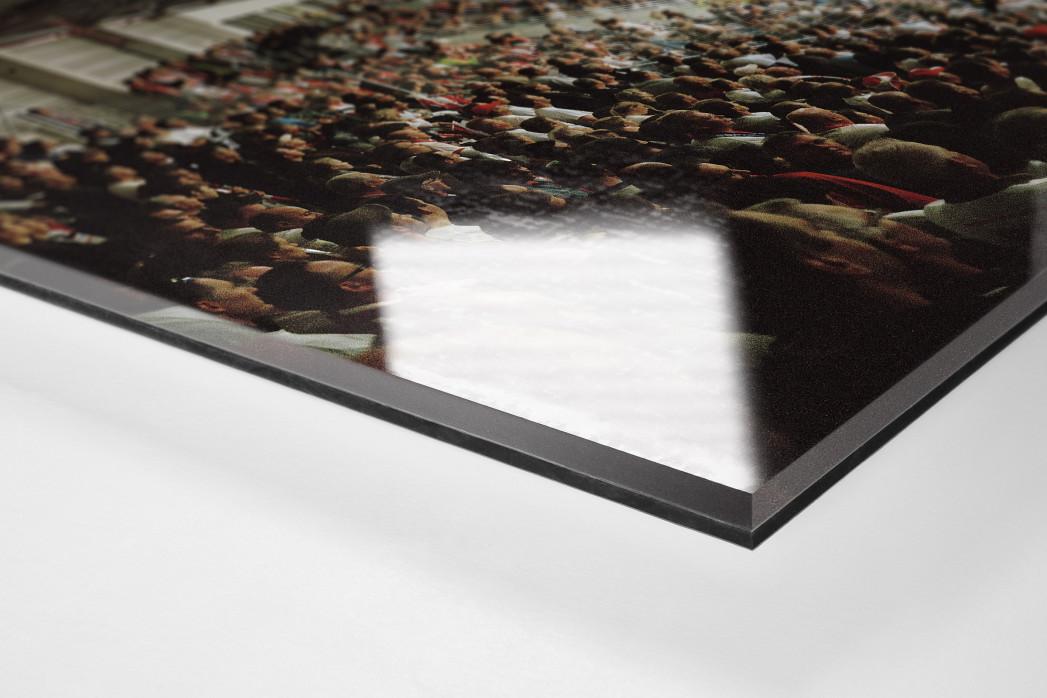 Halle als Direktdruck auf Alu-Dibond hinter Acrylglas (Detail)