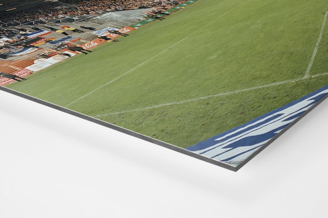 Essen (Georg-Melches-Stadion) als auf Alu-Dibond kaschierter Fotoabzug (Detail)