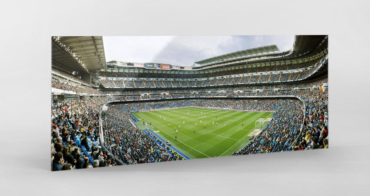 Madrid als Direktdruck auf Alu-Dibond hinter Acrylglas