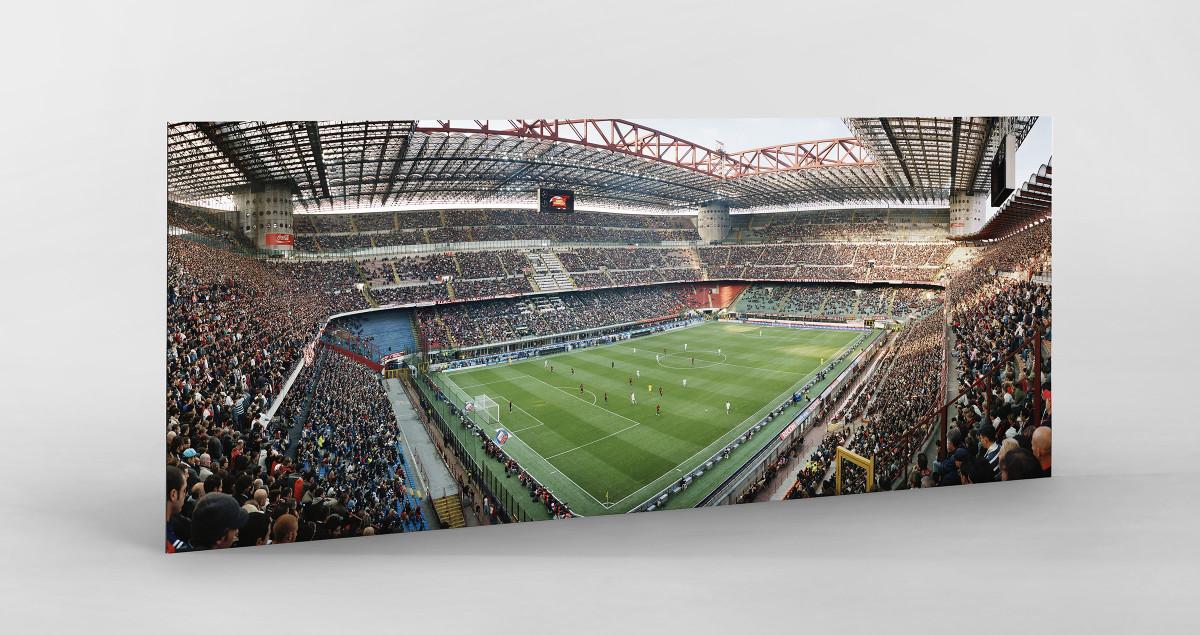 Mailand als auf Alu-Dibond kaschierter Fotoabzug