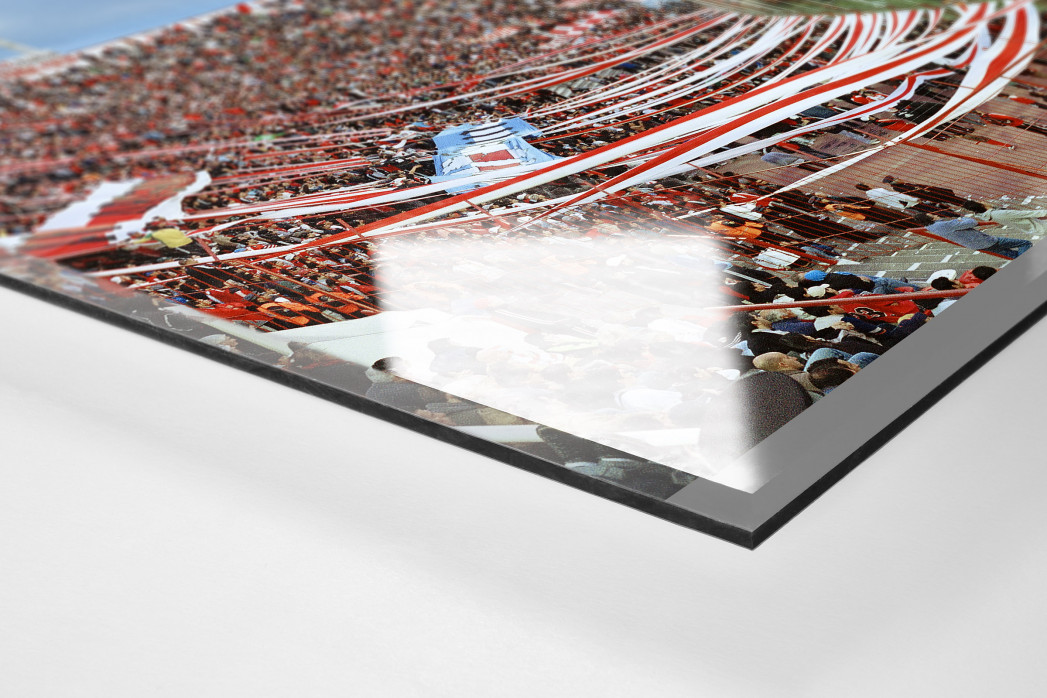 Buenos Aires (Hurácan) als Direktdruck auf Alu-Dibond hinter Acrylglas (Detail)