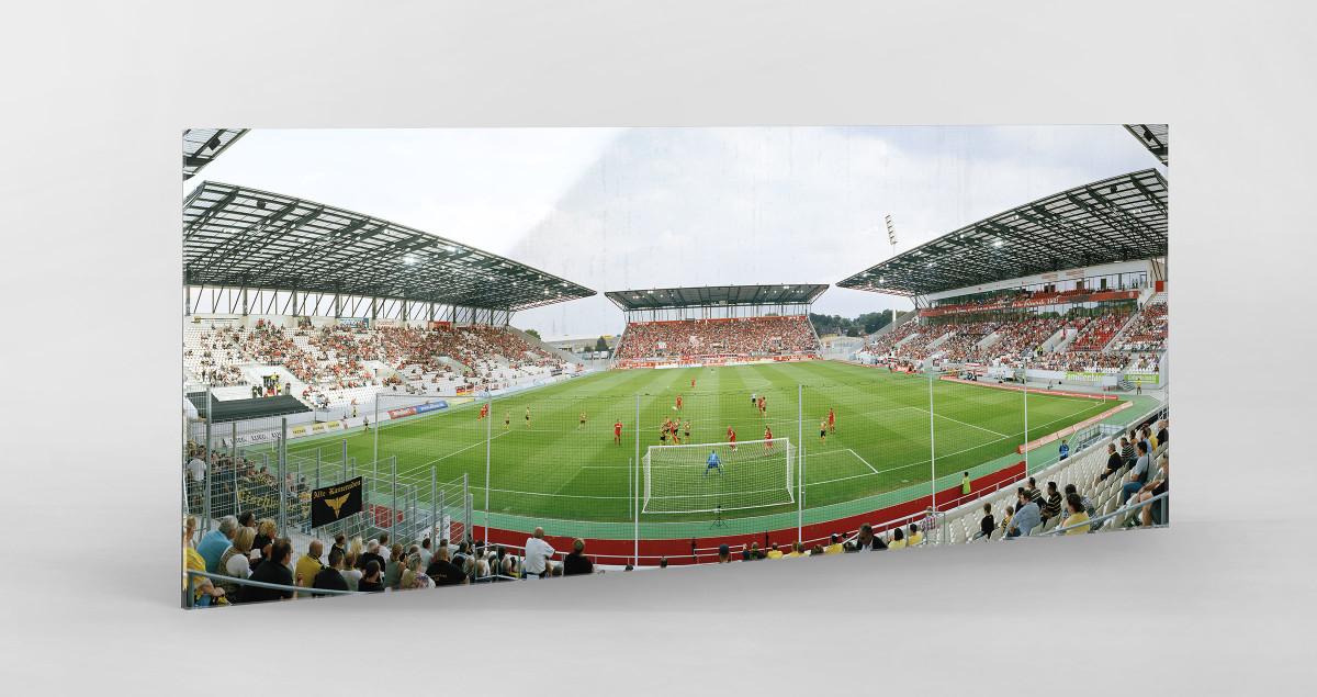 Essen (Stadion Essen) als Direktdruck auf Alu-Dibond hinter Acrylglas