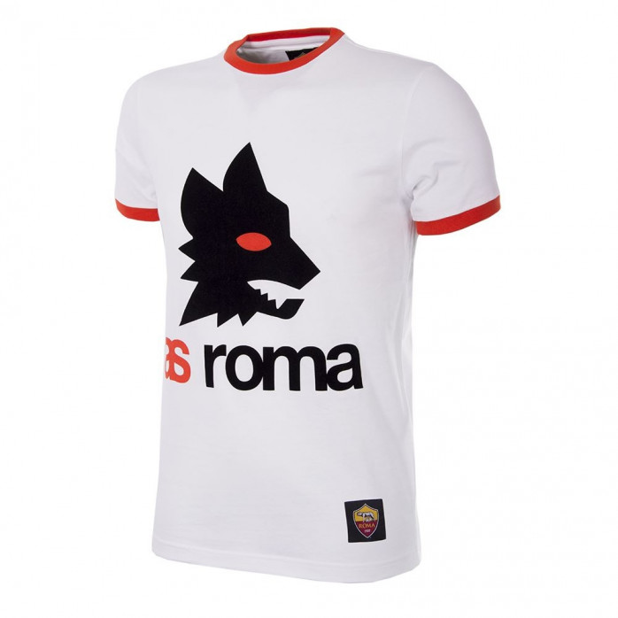 AS Roma Retro Logo T-Shirt | White