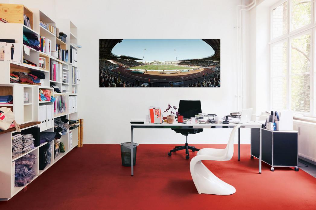 Braunschweiger Eintracht-Stadion im Büro - 11FREUNDE BILDERWELT