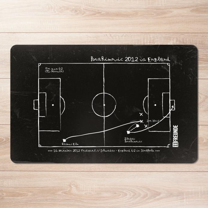 Frühstücksbrettchen Zlatan Ibrahimovic 2012 England vs. Schweden