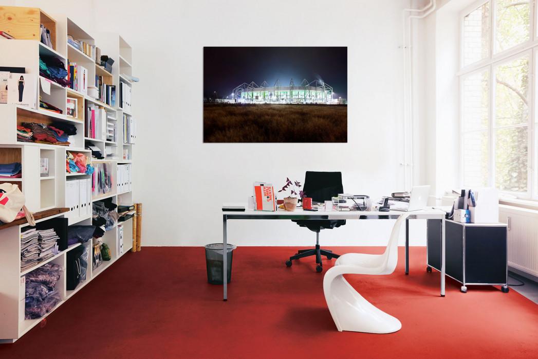 »Borussia Park bei Flutlicht (Farbe)« in deinem Büro - 11FREUNDE BILDERWELT