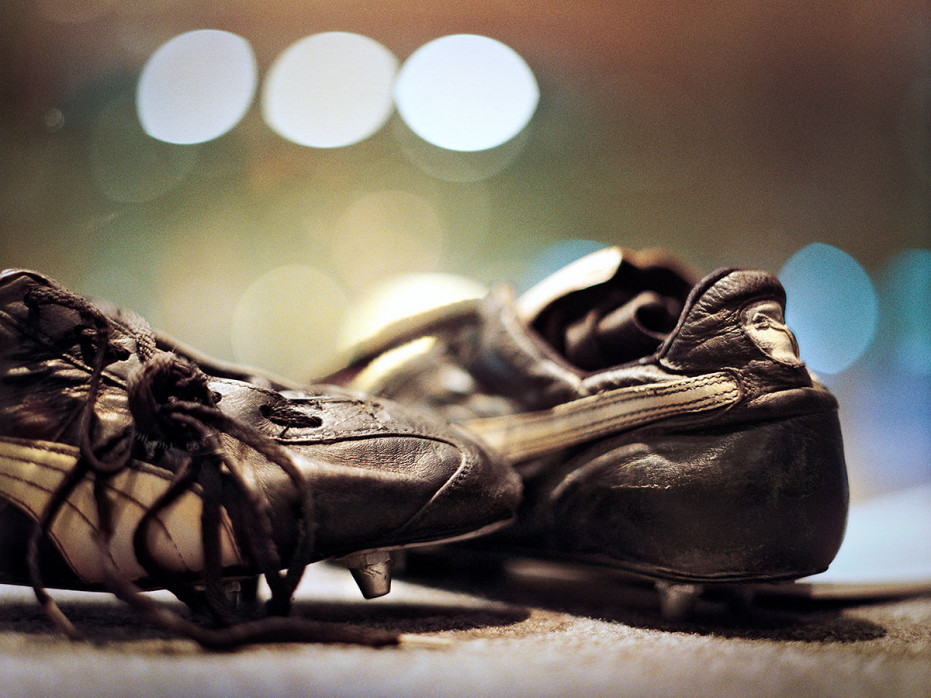 Maradonas Schuhe (Farbe) - Fußball Foto Wandbild - 11FREUNDE SHOP