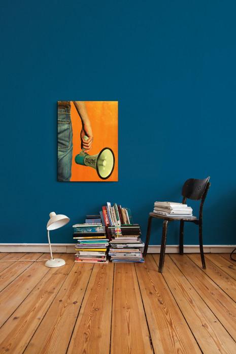 Illustration Fan mit Megaphon an deiner Wand - 11FREUNDE BILDERWELT