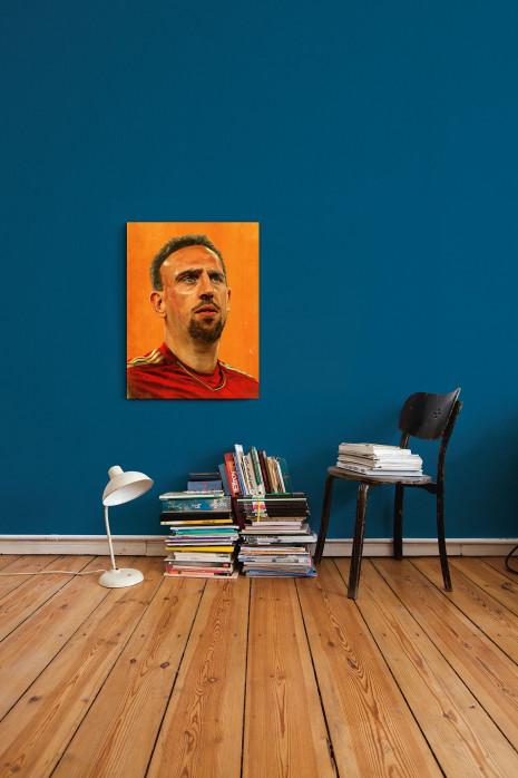 Illustration Franck Ribéry an deiner Wand - 11FREUNDE BILDERWELT