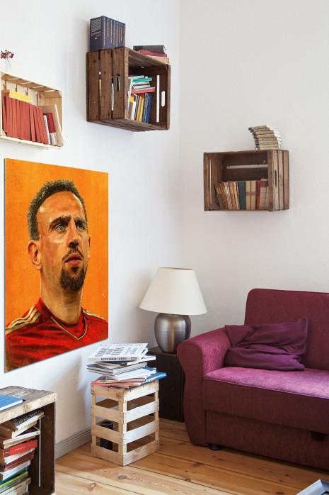 Illustration Franck Ribéry in deinem Wohnzimmer - 11FREUNDE BILDERWELT
