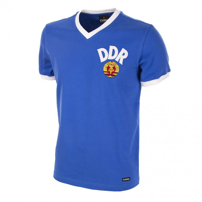 DDR World Cup 1974 Short Sleeve Retro Football Shirt