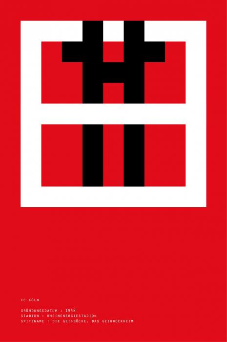 pixel lookalike k ln poster bestellen 11freunde shop. Black Bedroom Furniture Sets. Home Design Ideas