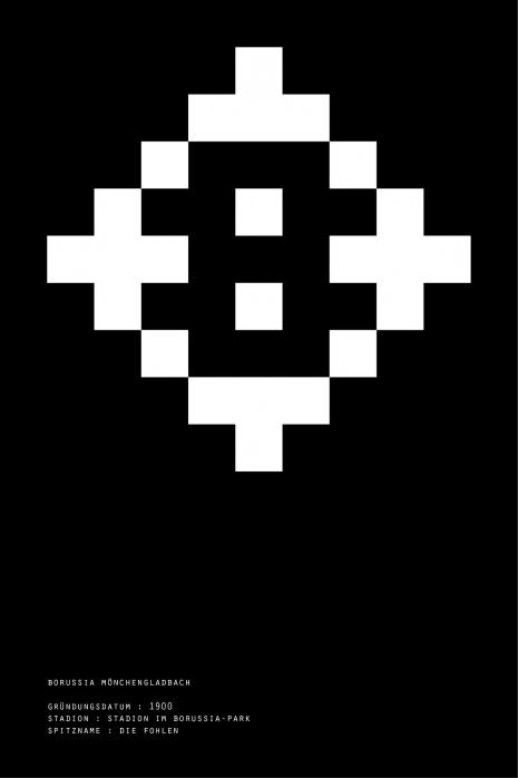 Pixel Lookalike: Mönchengladbach - Poster bestellen - 11FREUNDE SHOP