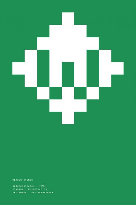 Pixel Lookalike: Bremen - Poster bestellen - 11FREUNDE SHOP