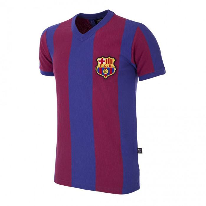 FC Barcelona 1955 - 56 Short Sleeve Retro Football Shirt