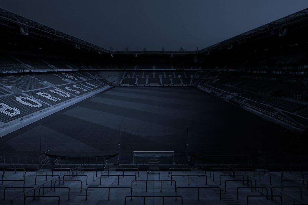 11FREUNDE SHOP Fußball Wandbild - Borussia Park bei Nacht