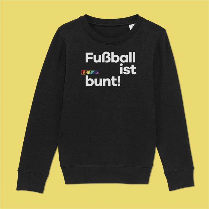 Kinder-Sweatshirt - Fußball ist bunt (Fairwear & Bio-Baumwolle) - 11FREUNDE Textil