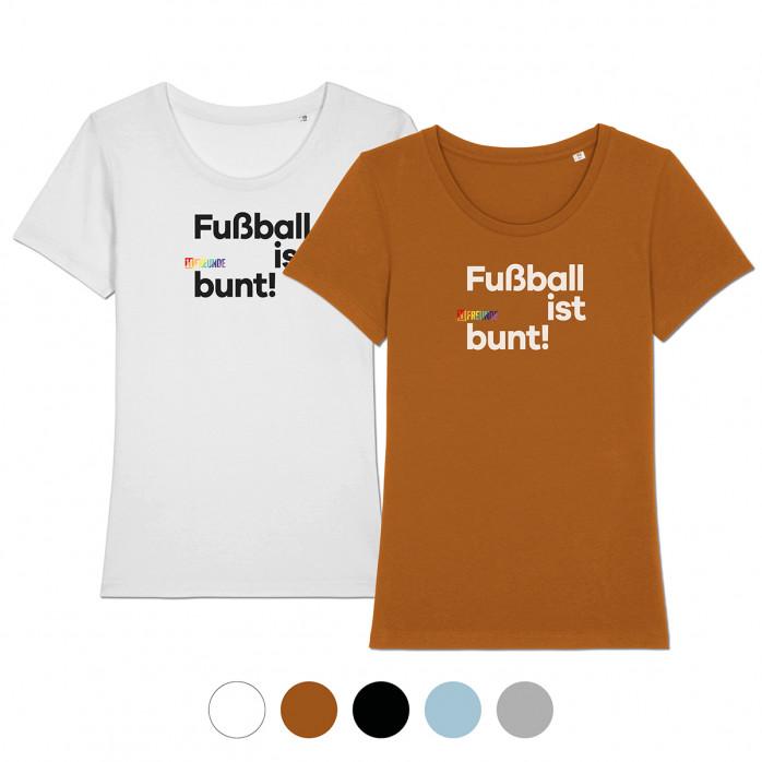 Frauen-Shirt - Fußball ist bunt (Fairwear & Bio-Baumwolle) - 11FREUNDE Textil