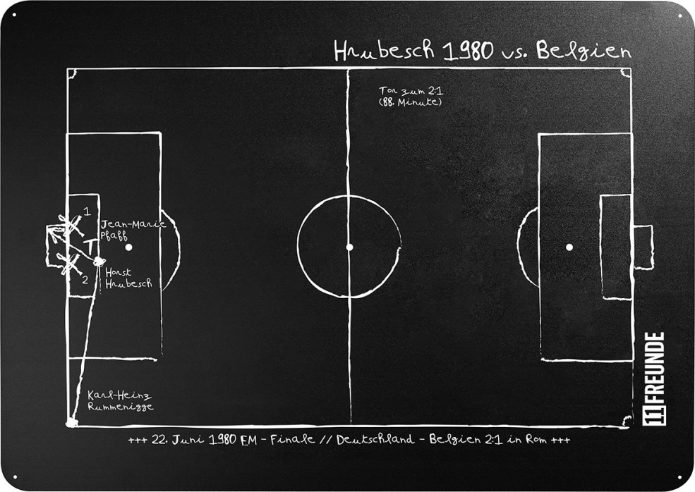 Magnettafel: Hrubesch 1980 - 11FREUNDE SHOP