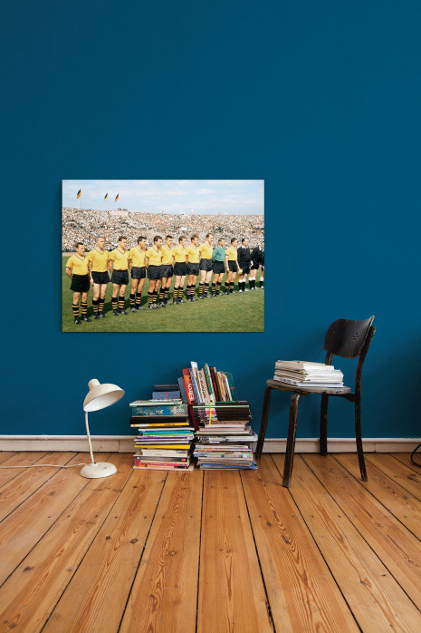 Die Elf vom BVB 1963 im Neckarstadion an deiner Wand - 11FREUNDE BILDERWELT