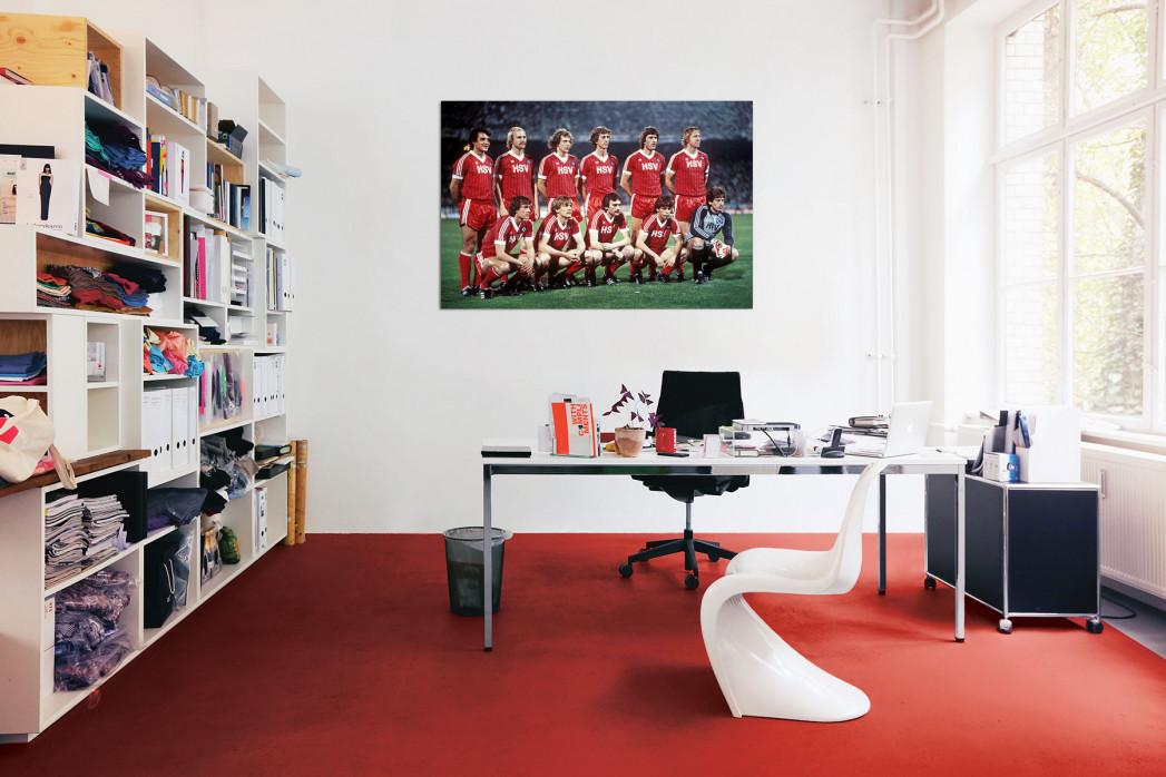 Die Elf vom Hamburger SV 1983 in deinem Büro - 11FREUNDE BILDERWELT