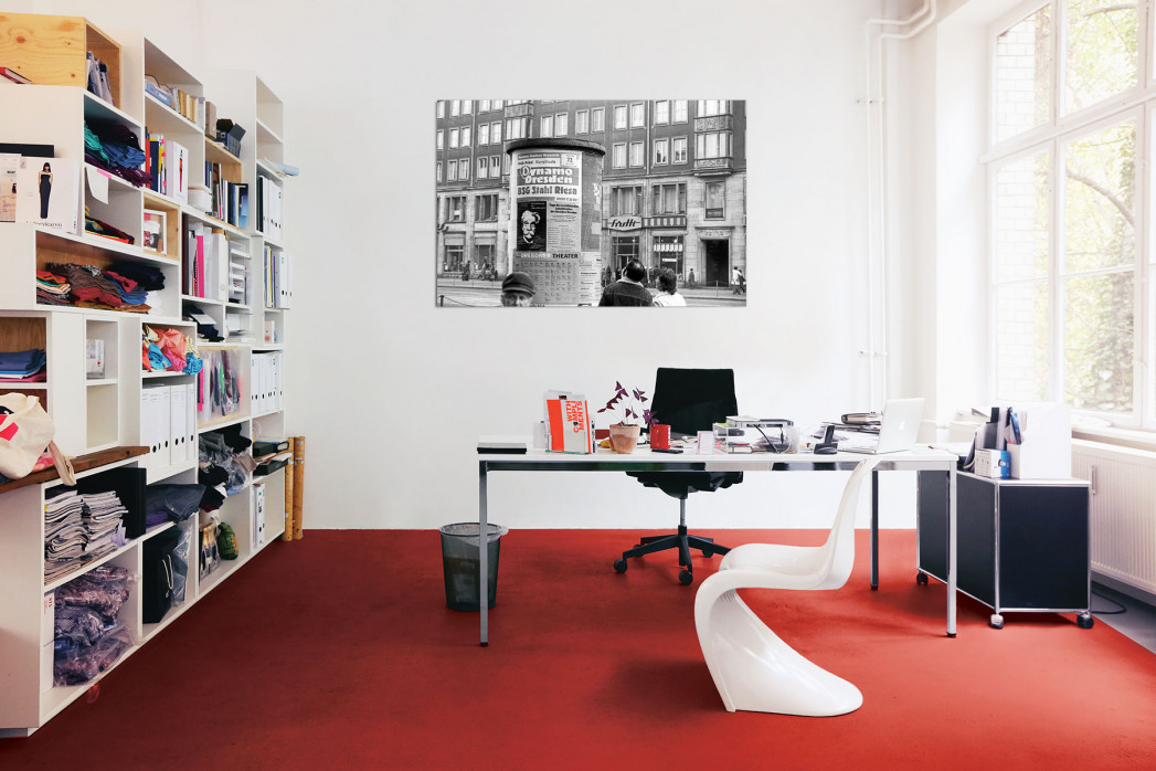 »Litfasssäule in Dresden« in deinem Büro - 11FREUNDE BILDERWELT