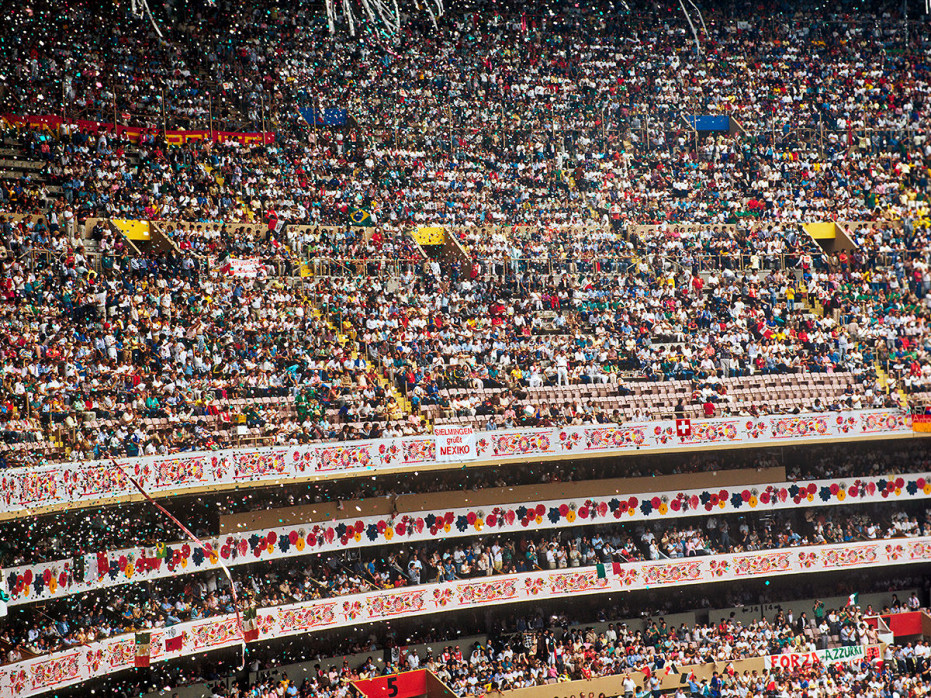Ränge im Aztekenstadion - Mexiko WM 1986 - Wandbild - 11FREUNDE SHOP