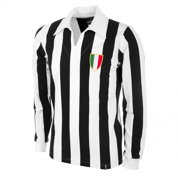 Juve 1960's Long Sleeve Retro Football Shirt