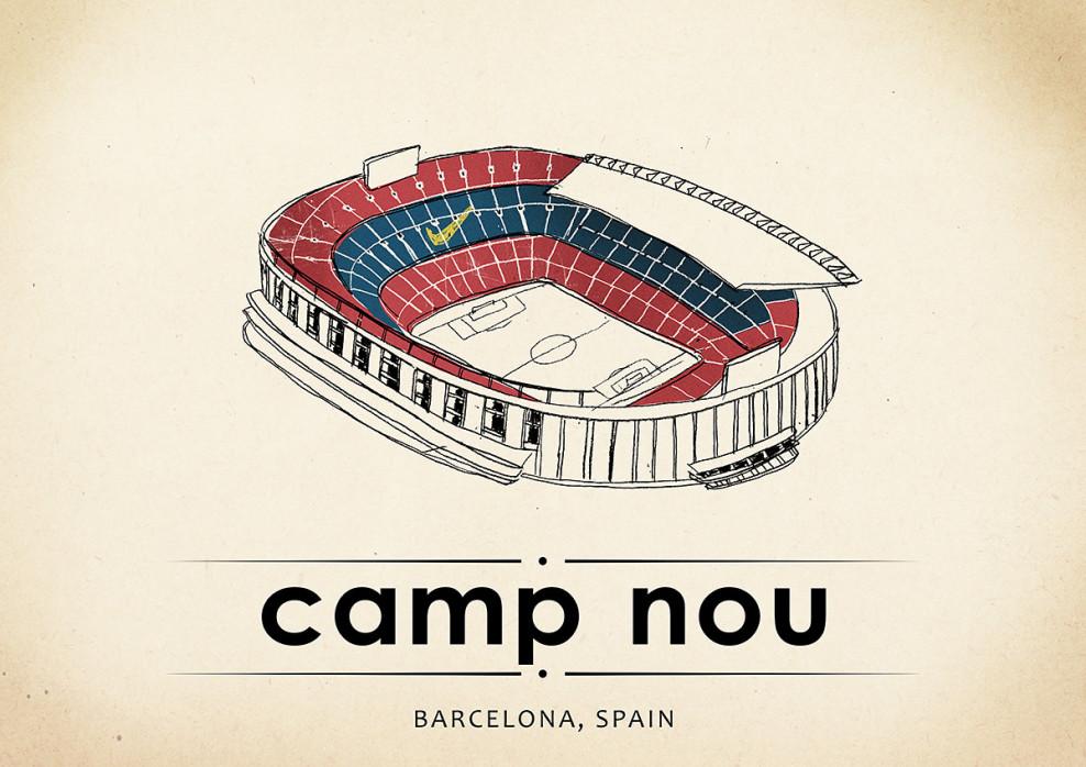 World Of Stadiums: Camp Nou - Poster bestellen - 11FREUNDE SHOP