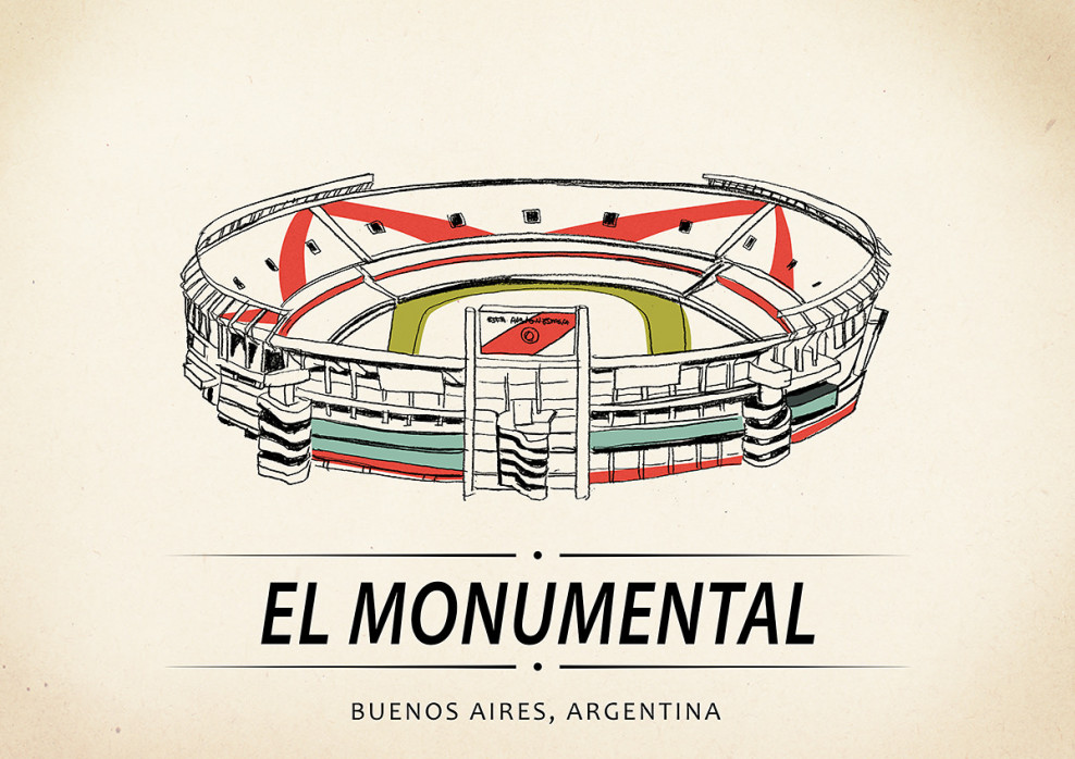 World Of Stadiums: El Monumental - Poster bestellen - 11FREUNDE SHOP