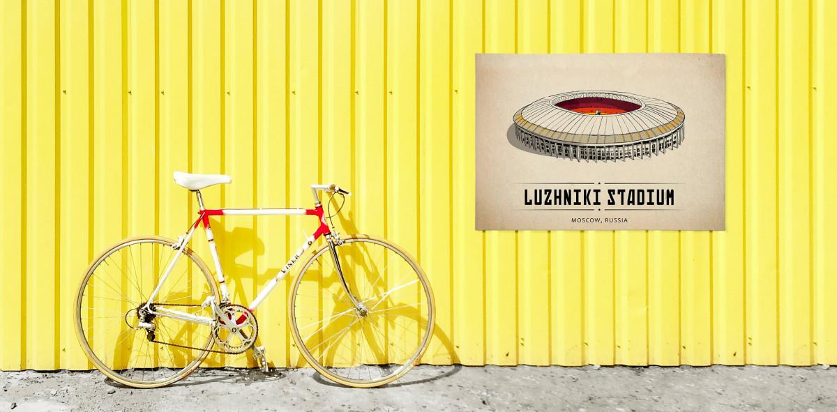 World Of Stadiums: Luzhniki Stadium - Poster bestellen - 11FREUNDE SHOP