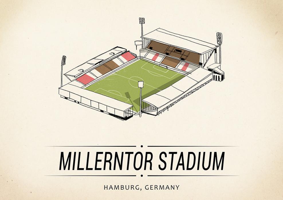World Of Stadiums: Millerntor Stadium - Poster bestellen - 11FREUNDE SHOP