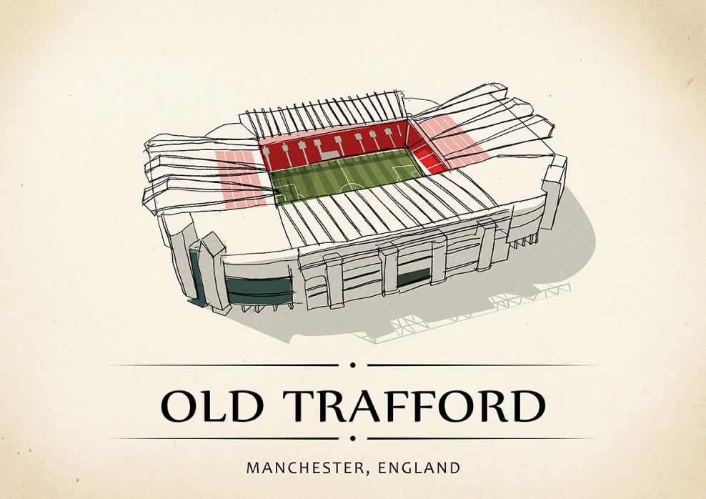 World Of Stadiums: Old Trafford - Poster bestellen - 11FREUNDE SHOP