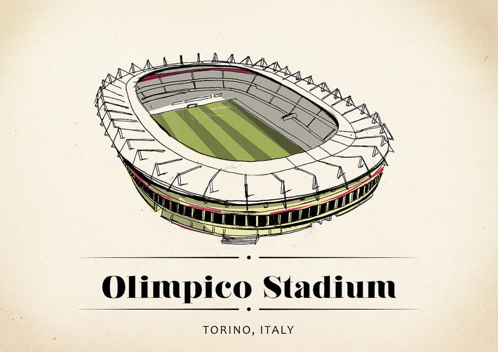 World Of Stadiums: Olimpico Stadium - Poster bestellen - 11FREUNDE SHOP
