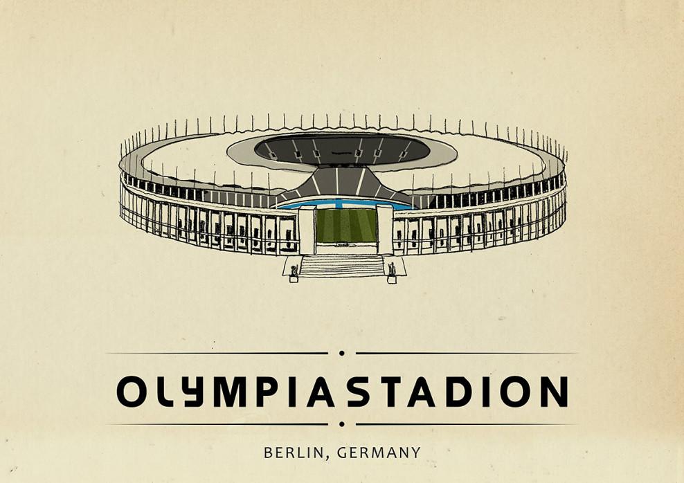 World Of Stadiums: Olympiastadion - Poster bestellen - 11FREUNDE SHOP