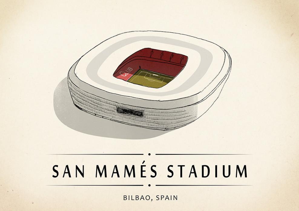 World Of Stadiums: San Mamés Stadium - Poster bestellen - 11FREUNDE SHOP
