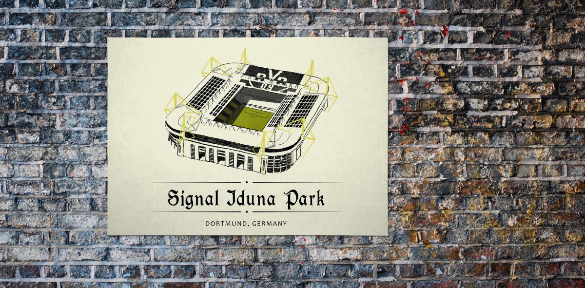 World Of Stadiums: Signal-Iduna-Park - Poster bestellen - 11FREUNDE SHOP