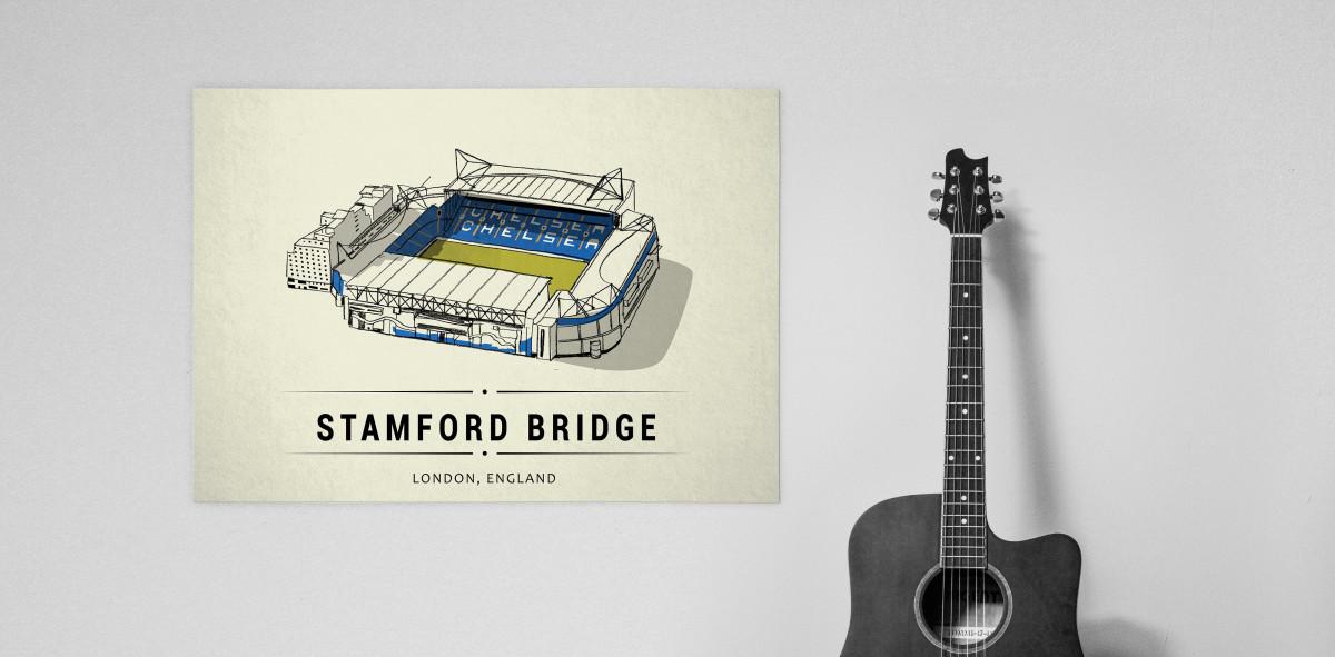 World Of Stadiums: Stamford Bridge - Poster bestellen - 11FREUNDE SHOP
