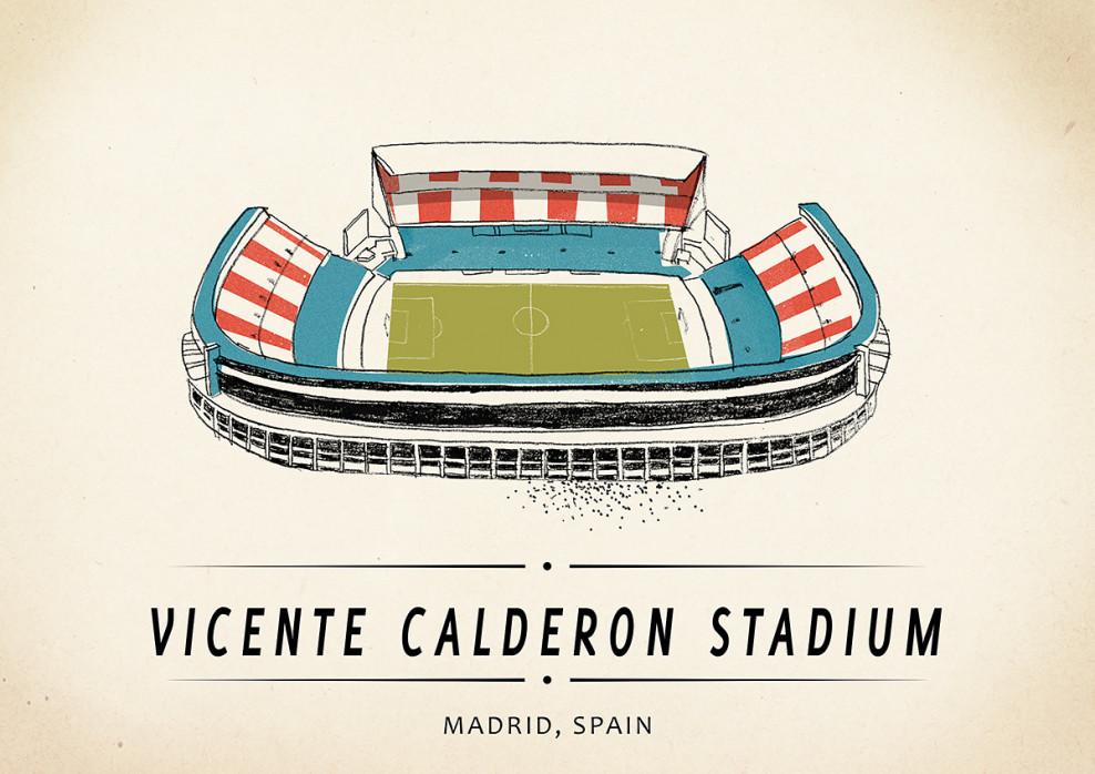 World Of Stadiums: Vicente Calderon Stadium - Poster bestellen - 11FREUNDE SHOP