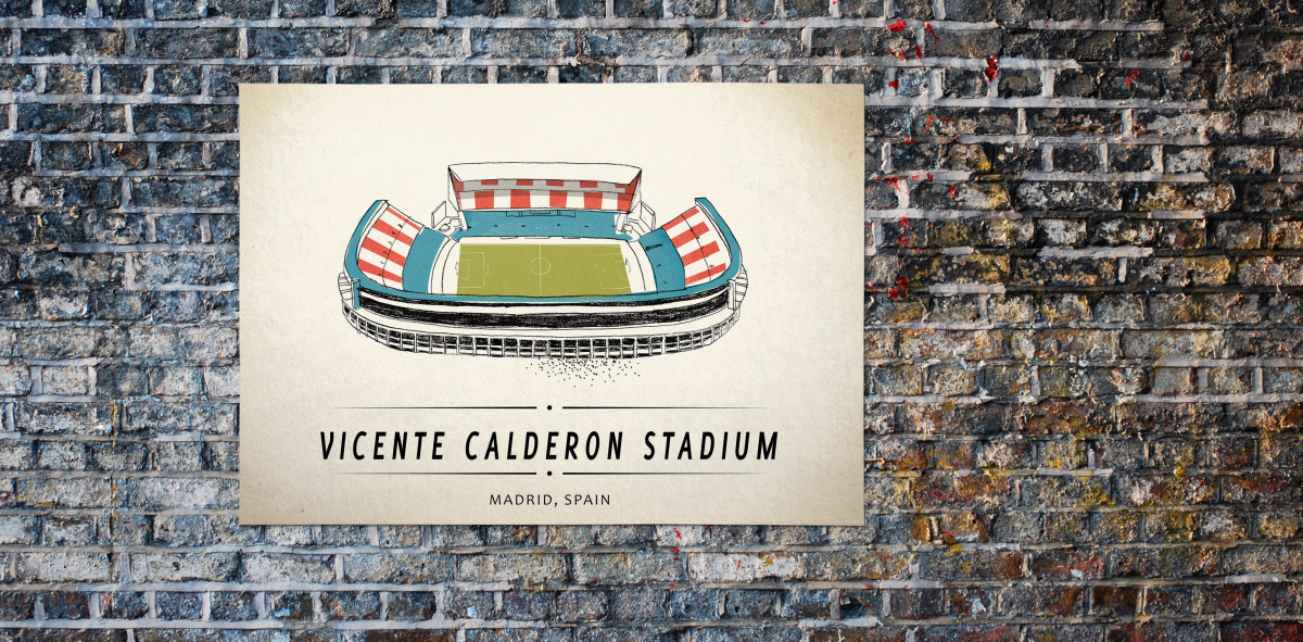 World Of Stadiums: Vicente Calderon Stadium - Poster bestellen - 11FREUNDE SHOP