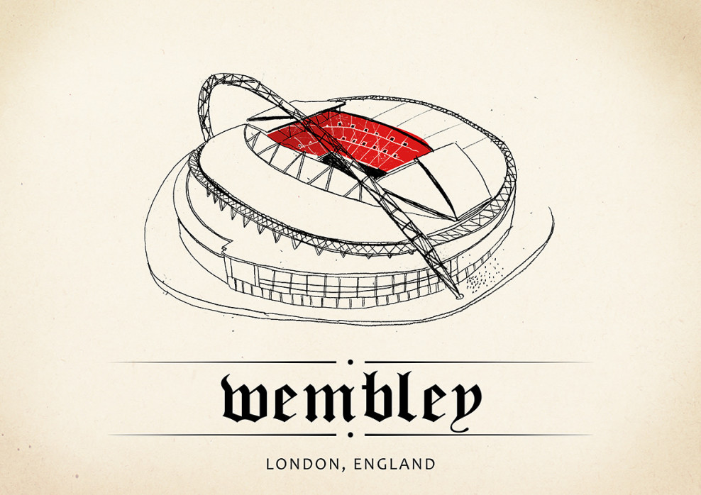World Of Stadiums: Wembley - Poster bestellen - 11FREUNDE SHOP