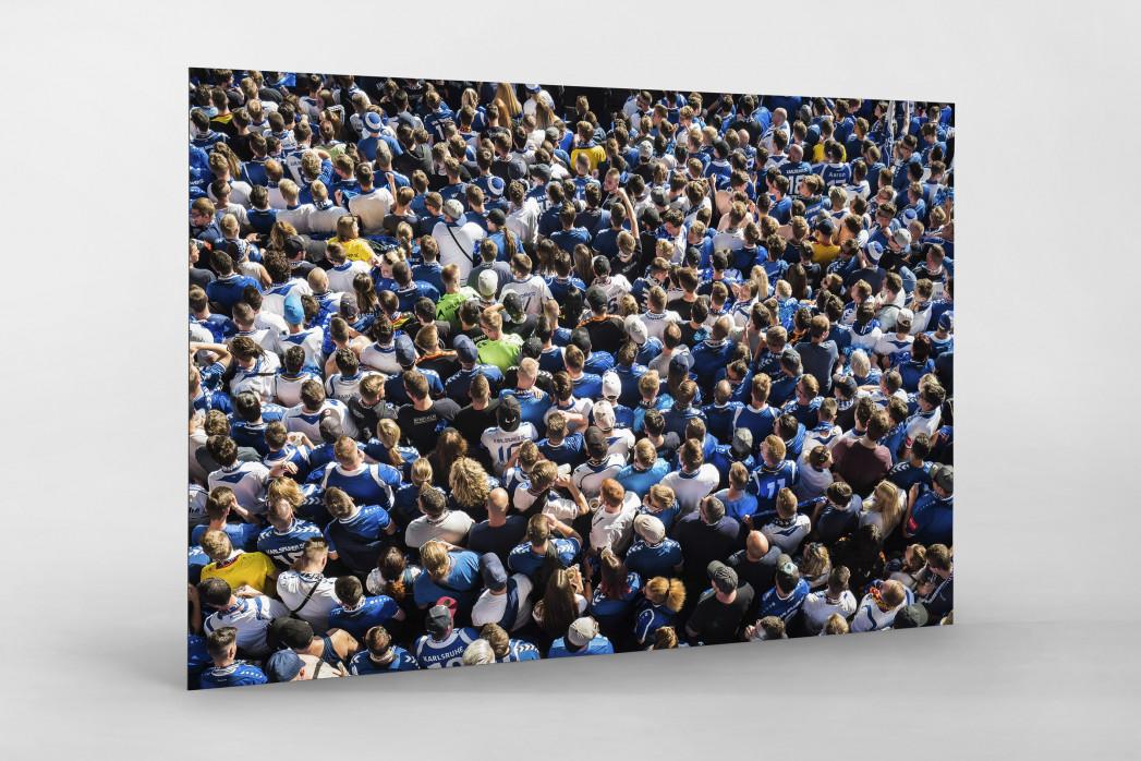 Fanblock im Wildparkstadion - Karlsruher SC - KSC Wandbild Fußball Foto