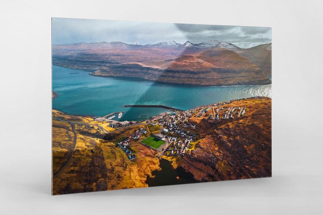 Auf den Färöer Inseln (2) - Fußballplatz - Wandbild