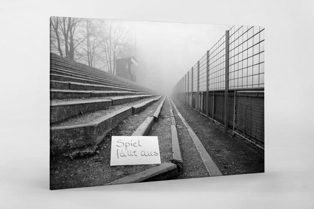 Spiel fällt aus - Wandbild Stuttgarter Kickers Waldau-Stadion 2. Bundesliga Süd 1979