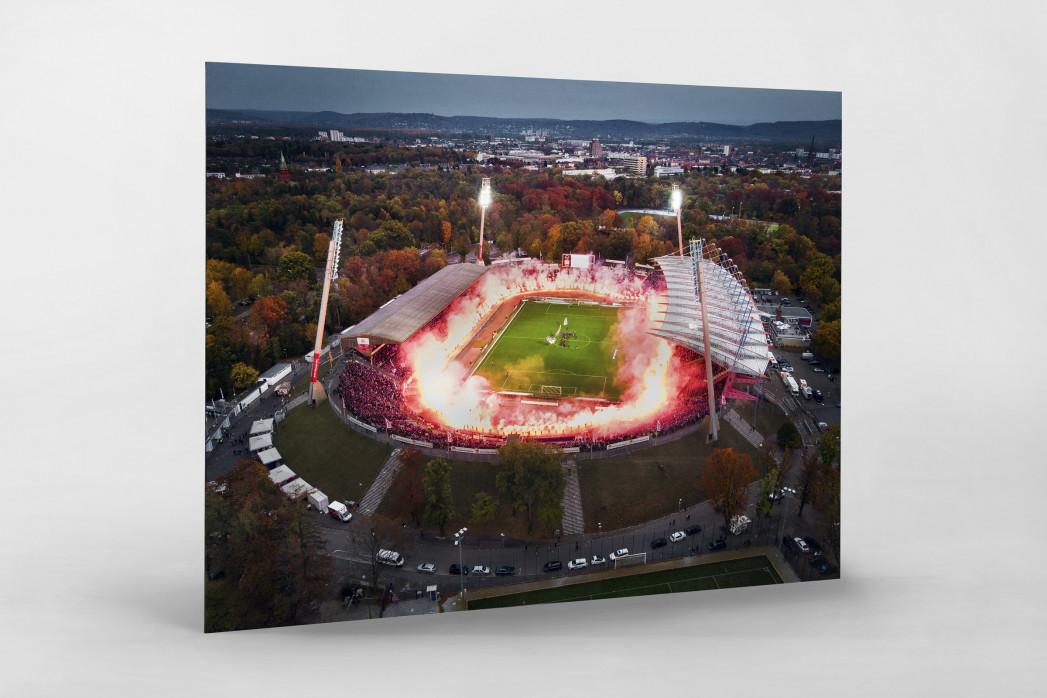 Vogelperspektive aufs letzte Spiel im Wildparkstadion - Marvin Ibo Güngör - Fußball Wandbild