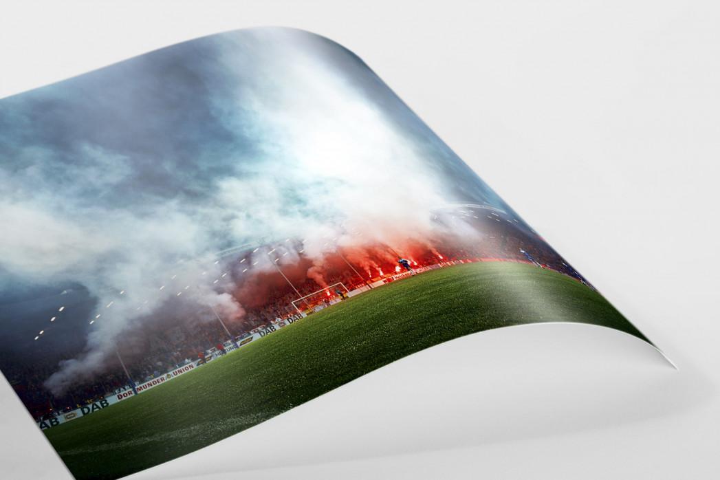 Bochumer Bengalos (Farbe) - VfL Bochum Foto von Christoph Buckstegen als Wandbild