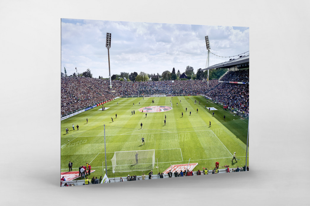 Von der Nordtribüne aus gesehen (Farbe) - Borussia Mönchengladbach Bökelberg - Foto von Christoph Buckstegen als Wandbild
