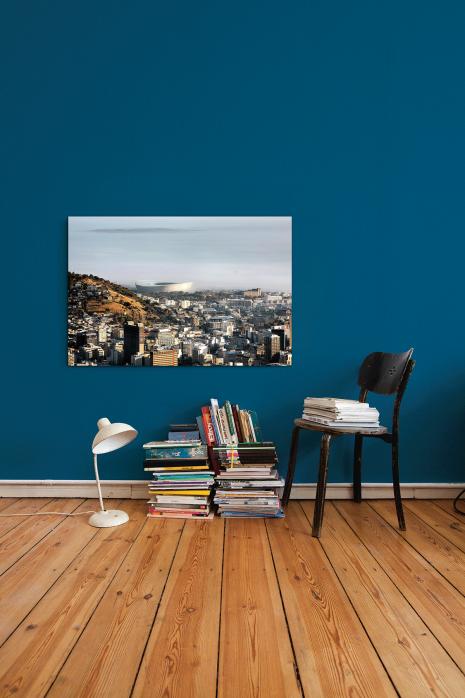 »Cape Town Stadium mit Stadt und Meer« an deiner Wand - 11FREUNDE BILDERWELT
