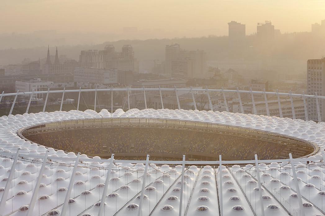 Dach vom Olympiastadion Kiew - 11FREUNDE BILDERWELT